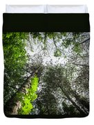 Green To The Sky Duvet Cover