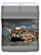 Green Toad Duvet Cover