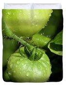 Green Tomatoes Duvet Cover