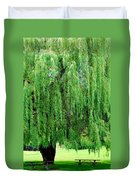 Green Tree View. Duvet Cover