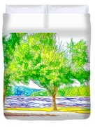 Green Trees By The Water 3 Duvet Cover