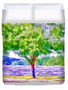 Green Trees By The Water  5 Duvet Cover