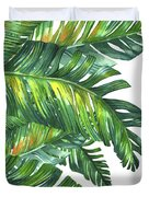 Green Tropic  Duvet Cover