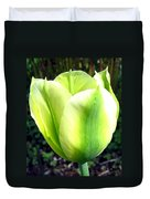 Green Tulip Duvet Cover