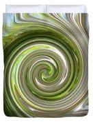 Green Twirl Duvet Cover