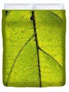 Green Veins Duvet Cover
