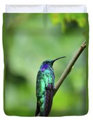Green Violet Ear Hummingbird Duvet Cover