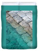 Green Water Blocks Duvet Cover