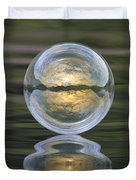 Green Waters And Cloudy Skies Duvet Cover