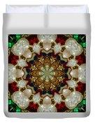 Green White Red Blue Kaleidoscope 1 Duvet Cover