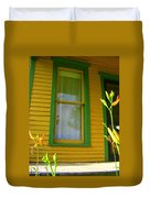 Green Window Duvet Cover