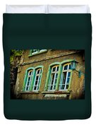 Green Windows Duvet Cover