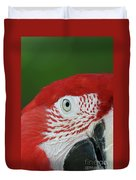 Green-winged Macaw Close Up Duvet Cover