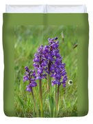 Green-winged Orchids Duvet Cover