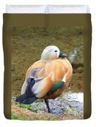 Green Winged Wood Duck 2 Duvet Cover