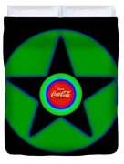 Green With Blue Duvet Cover