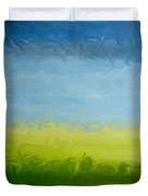 Greener Pasture 3- Digital Painting Duvet Cover