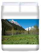 Greens And Blues Of The Maroon Bells Duvet Cover