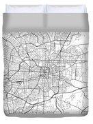 Greensboro North Carolina Usa Light Map Duvet Cover