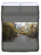 Greenway Trail In The Fall Duvet Cover