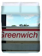 Greenwich Train Station Duvet Cover