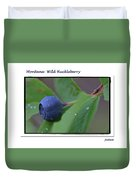 Greeting Card - Huckleberry #4 Duvet Cover