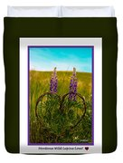 Greeting Card - Lupine Love Duvet Cover