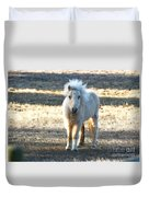 Greetings From A Hobbit Horse Duvet Cover