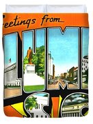 Greetings From Columbia South Carolina Duvet Cover