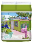 Greetings From Matlacha Island  Florida Duvet Cover