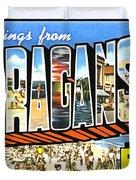 Greetings From Narragansett Rhode Island Duvet Cover