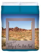Greetings From Valley Of Fire Duvet Cover