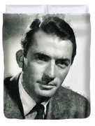 Gregory Peck Hollywood Actor Duvet Cover