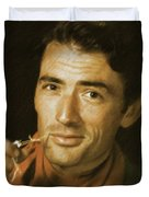 Gregory Peck, Vintage Actor Duvet Cover