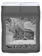 Grey Barn On A Grey Day Duvet Cover