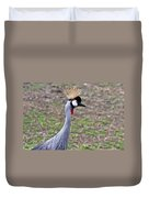 Grey Crowned Crain Of Africa 3 Duvet Cover