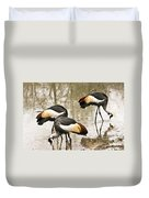 Grey Crowned Crain Of Africa 5 Duvet Cover