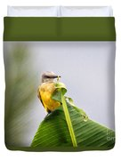 Grey Headed Tanager Duvet Cover