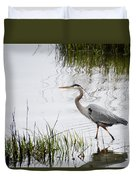 Grey Heron #3 Duvet Cover