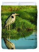 Grey Heron Duvet Cover