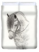 Grey Pony Duvet Cover