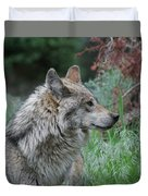 Grey Wolf Profile 2 Duvet Cover