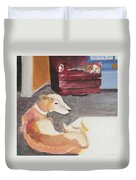 Greyhound And Spaniel Duvet Cover
