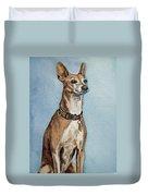 Greyhound Commission Painting By Irina Sztukowski Duvet Cover