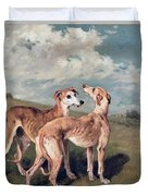 Greyhounds Duvet Cover by John Emms