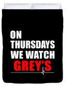 Grey's Anatomy Duvet Cover