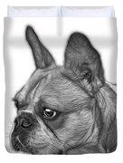 Greyscale French Bulldog Pop Art - 0755 Wb Duvet Cover