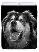 Greyscale Malamute Dog Art - 6536 - Bb Duvet Cover