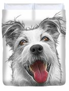 Greyscale Terrier Mix 2989 - Wb Duvet Cover