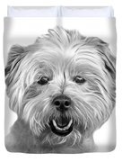 Greyscale West Highland Terrier Mix - 8674 - Wb Duvet Cover